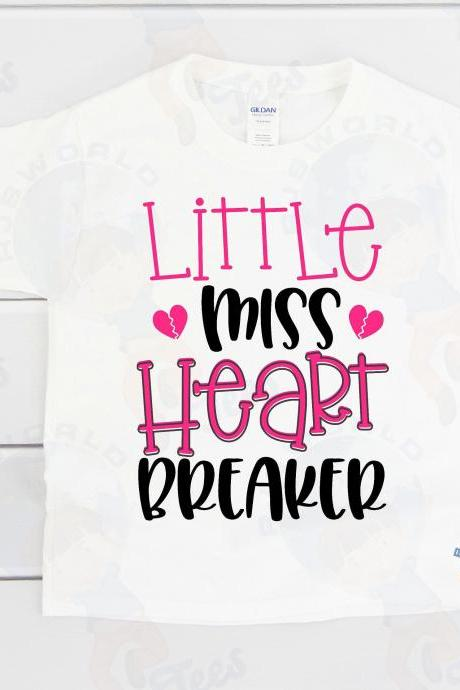 Little Miss Heart Breaker, Valentine's Day T-shirt, Toddler Valentine's Day, Baby Valentine's Day, Heart Breaker, Miss Heart Breaker