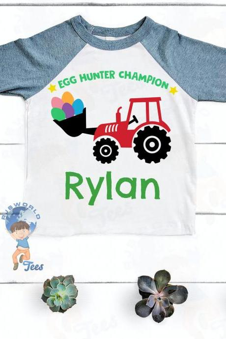 Easter Egg Hunter Champion Boy T-shirt, Toddler, Baby, Raglan, Baseball Tee, Bella Canvas