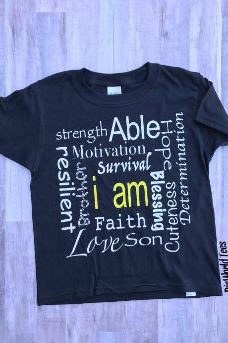 I Am Personality Tshirt, Personalized Tshirt, Love Tshirt, Son Tshirt, Hope Tshirt, Survivial Tshirt, Customized Tshirt